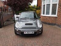 Mini Cooper S for sale. Excellent condition, low mileage for age, full leather interior.