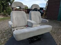 Swivel Double Rear Captain Bench 2 Seat Bed 180 Base VW T4 T5 Sprinter Caddy Transit