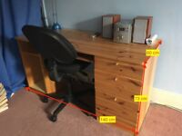 Ikea Desk and Office chair