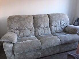 3 seater grey sofa collection only