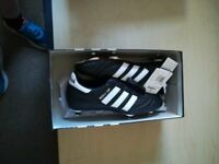Adidas World Cup Football Boots black/ white size 6 Brand new with Box