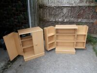 Beech effect storage cupboard