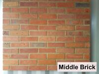 Brick slips, wall cladding, tiles- MIDDLE BRICK style