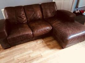 LEATHER L SHAPED SOFA 🚚DELIVERY AVAILABLE 🚚