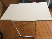 IKEA (Muddus) White drop-leaf table/study desk