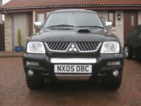 Re advertised - Mitsubishi Warrior L200, Black 4WD 05 Plate No VAT