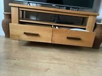 Solid real wood tv stand