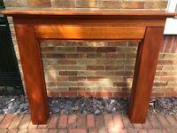 Wooden fire surround/ mantle piece