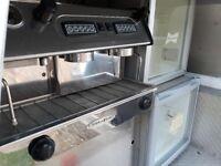 Stafco Coffee Machine. Twin Gang Double Group Head