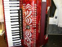 full size german piano accordion in case