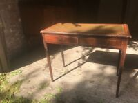 antique writing desk two drawer delightful