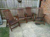 4 Royalcraft garden furniture decking chairs