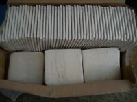 135 B&Q Kitchen Cream Ceramic Wall Tiles 100x100mm& ADHESIVE,( these are £15 for 25 tiles from B&Q )