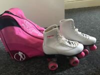 Girls Roller skates with bag, collection only wirral!