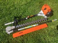 2015 STIHL KM100R Petrol Combi Kombi Engine+ HL-KM 135 Hedge Trimmer Attachment