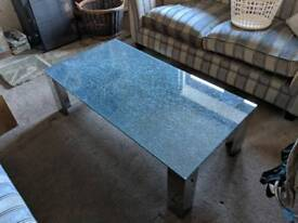 Shattered glass effect coffee table