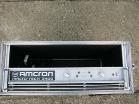 Crown amcron macrotech 24x6 power amplifier (wedge monitors also avalable)