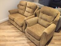 Small 2 seater sofa and arm chair
