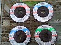 set of 4 angle grinder discs as the picture, brand new