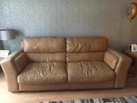 Real leather 3+2 seater sofa