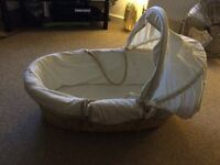 Mothercare Moses basket and mattress
