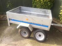 Larger Erde 150 Galvanised trailer + spare wheel