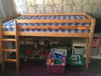 Child's Single Ladder Bed and Mattress