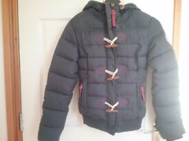 XS SUPERDRY GREY PUFFER JACKET