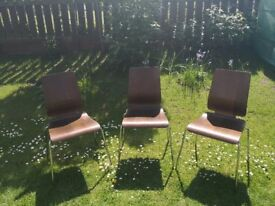 Bargain! Set of 3 ikea dining chairs, only £10!