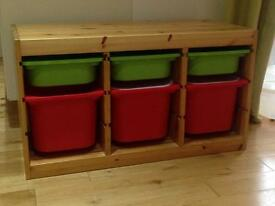 Ikea Trofast low level storage unit with tubs