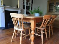 8 beech wood kitchen/dining room chairs, all good condition