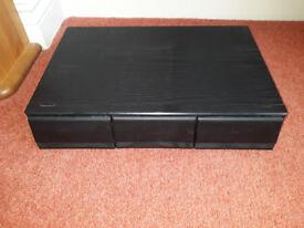 Cassette Storage BOX Black Ash.