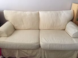 2 seater cream sofa, ***free must collect