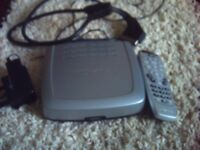 NOKIA SLIMLINE FREEVIEW SET TOP BOX AS NEW WITH REMOTE AND SCART LEAD