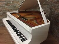 BRAND NEW STEINHOVEN SG148 - HIGH GLOSS WHITE BABY GRAND PIANO