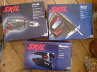 SKIL DRILL SANDER AND JIGSAW AS NEW IN BOXES