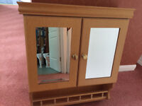 BATHROOM CABINET AND MATCHING MIRROR