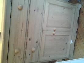 wooden cupboard with 2 drawers
