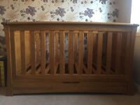 Mamas and papas cot bed for sale, near perfect condition