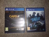 Project Cars & Need for Speed (2015) PS4 Games