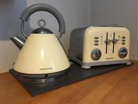 Retro kitchen set - kettle toaster and bread bin