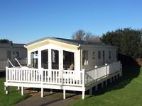 Luxury static caravan for sale on nice family park in Newquay Cornwall close to beaches with decking
