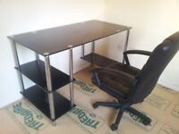 Office/ Computer Desk and Swivel Chair