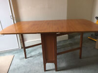 Dining Table Solid Teak Drop leaf - gate legged