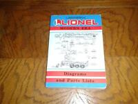 LIONEL TRAINS DIAGRAMS AND PARTS MANUAL