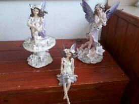Lilac fairy ornaments