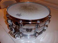 "Tama Mastercraft 8056 (imperial star 1980)steel snare drum 14"" x 6.5"""