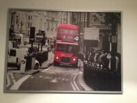 LARGE RED LONDON BUS PICTURE FROM IKEA
