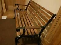 Bench lovely restored cast iron bench