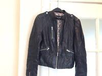 Ladies real leather jacket